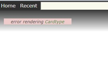 Please help - Fatal Error - Error rendering Cardtype+screenshot